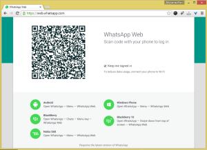 Penggunaan Whatsapp melalui web