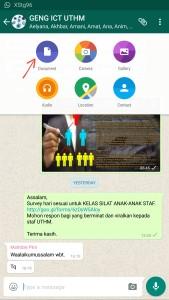 Whatsapp sudah berkeupayaan berkongsi dokumen